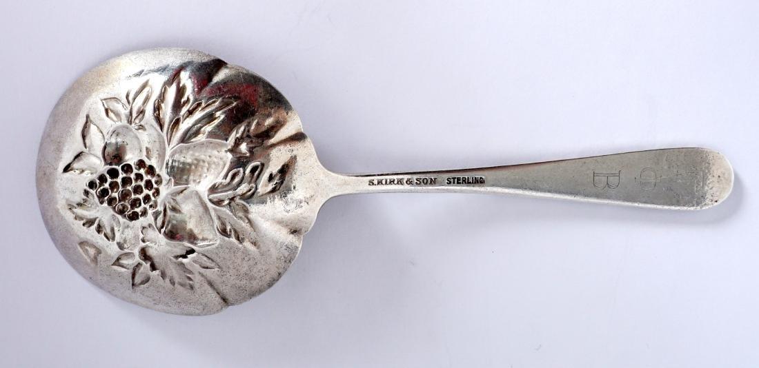 Pair Kirk Repousse Sterling Bon Bon Bowls & Spoon - 8