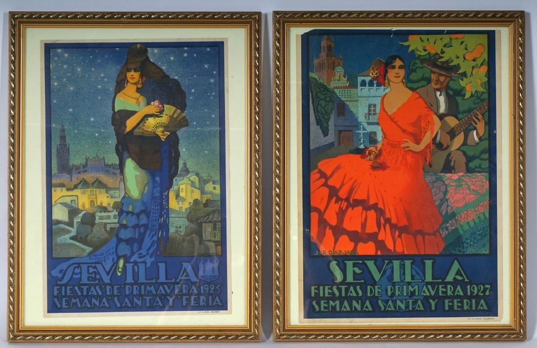 2 Sevilla Fiesta de Primavera Small Travel Posters