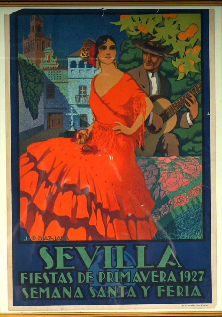 2 Sevilla Fiesta de Primavera Small Travel Posters - 3