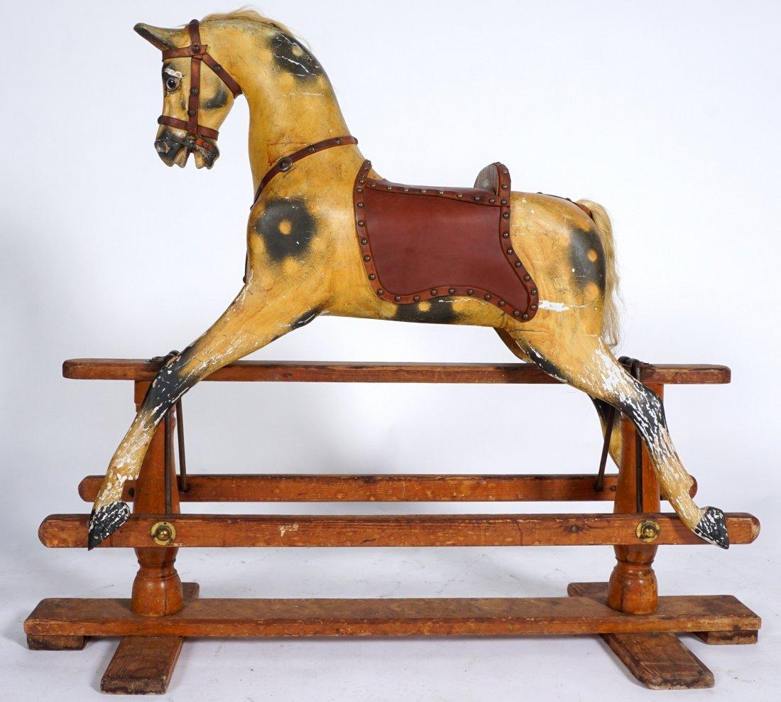 Childs Carved Rocking / Slider Horse