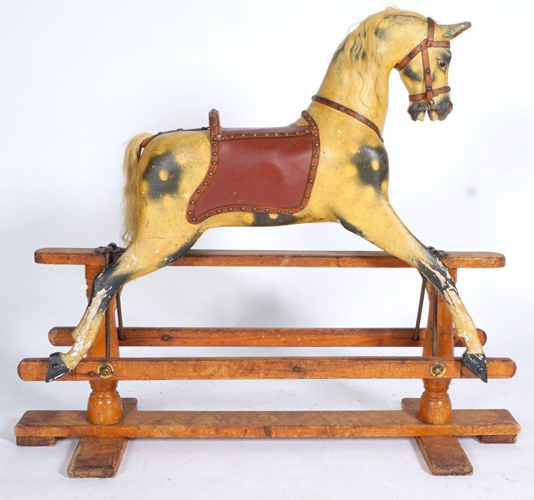 Childs Carved Rocking / Slider Horse - 2