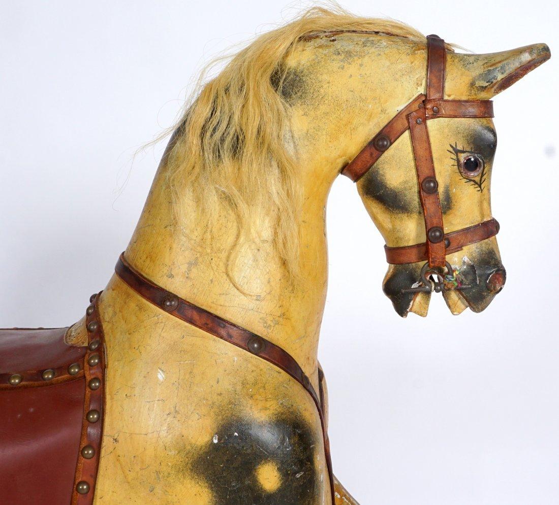 Childs Carved Rocking / Slider Horse - 5