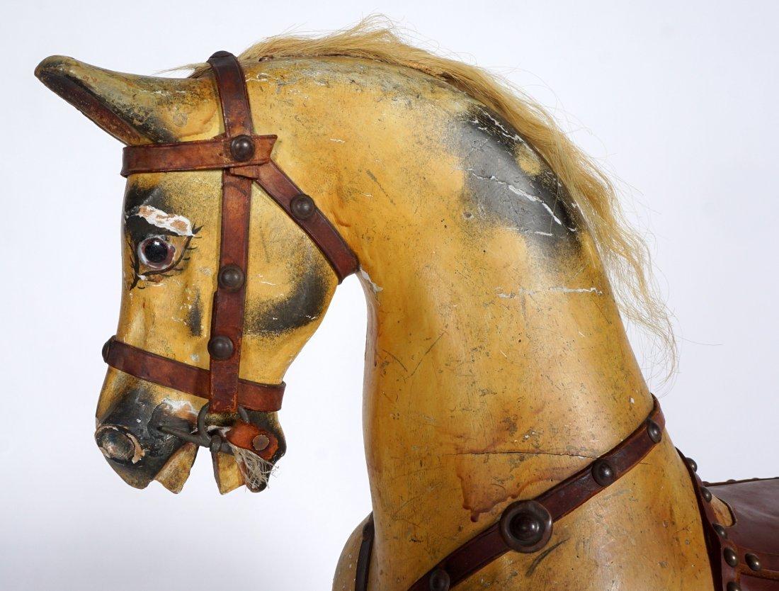 Childs Carved Rocking / Slider Horse - 6