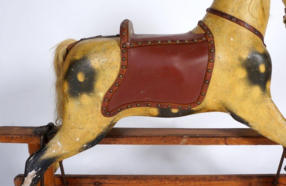 Childs Carved Rocking / Slider Horse - 7