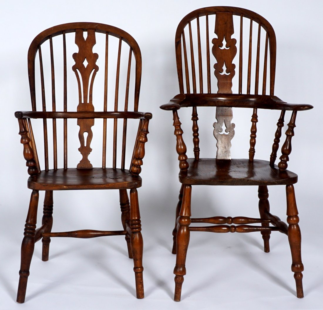 Two English Windsor Chairs - 3