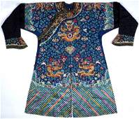 Qing Chinese Imperial Court Kesi Dragon Robe