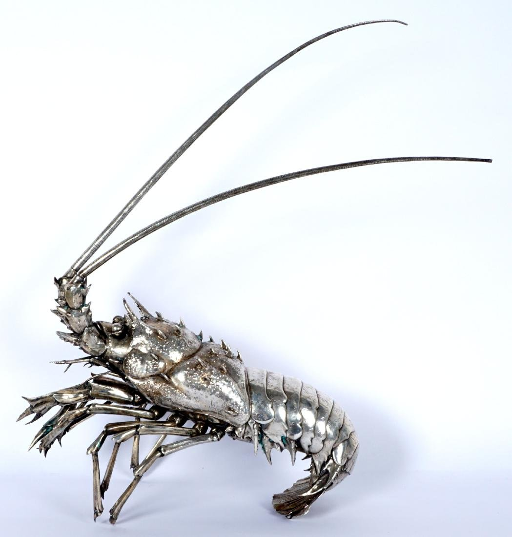 Buccellati Style Silver Lobster by Fratelli Lisi
