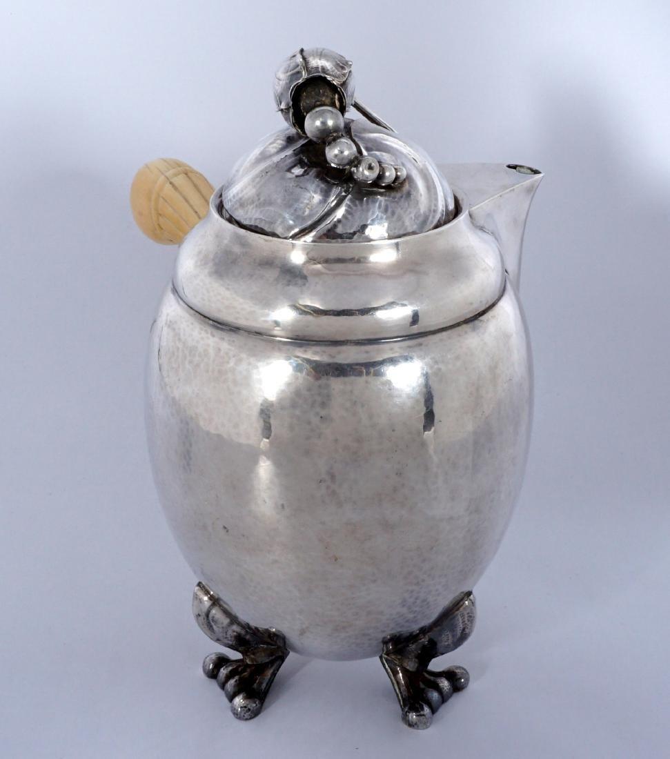Georg Jensen Sterling Silver Blossom Milk Jug - 5