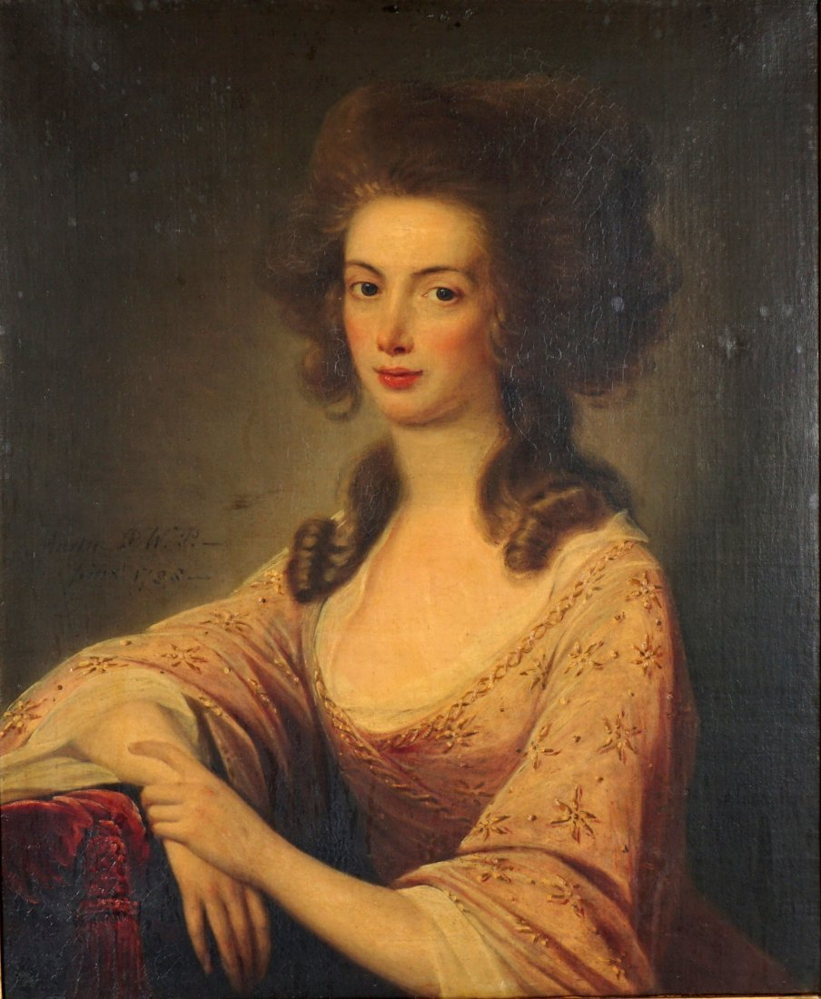 Exhibited David Martin 1788 Portrait Mrs. Wardlaw