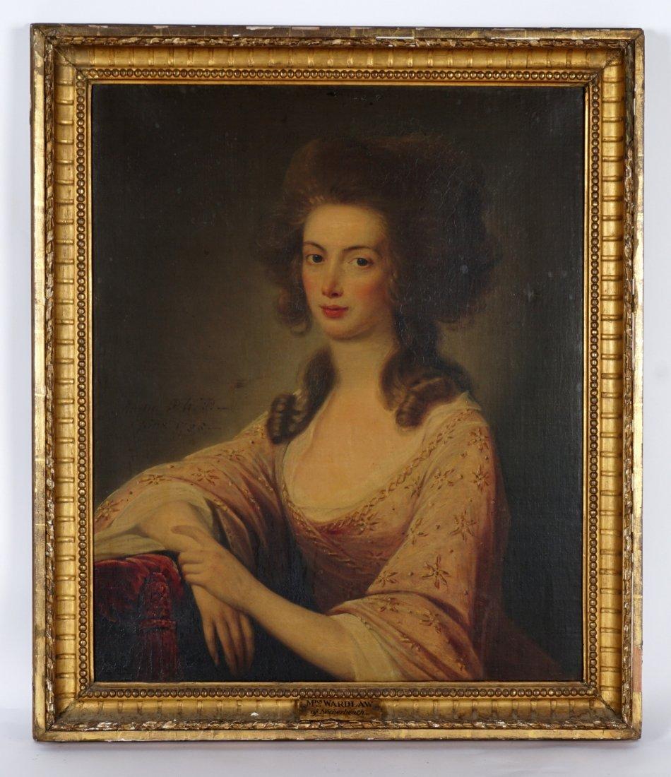 Exhibited David Martin 1788 Portrait Mrs. Wardlaw - 2