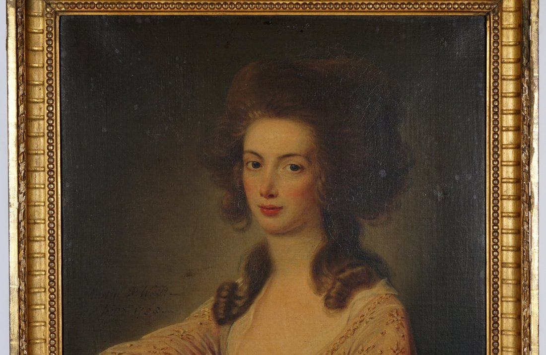 Exhibited David Martin 1788 Portrait Mrs. Wardlaw - 4