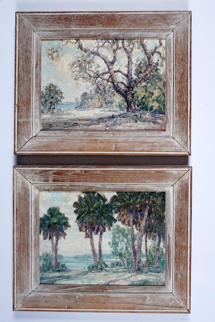2 Frank Swift Chase Florida Landscape Paintings