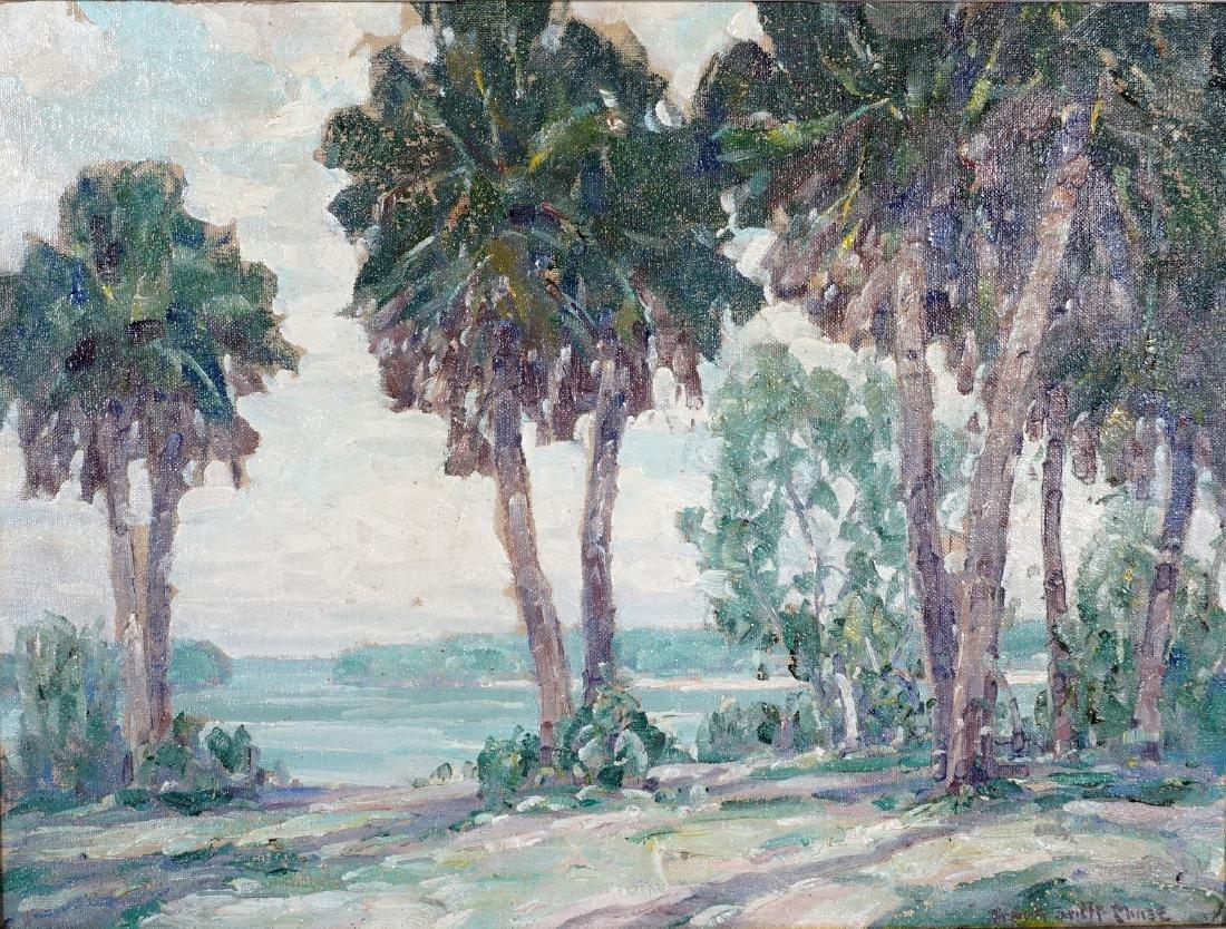 2 Frank Swift Chase Florida Landscape Paintings - 7