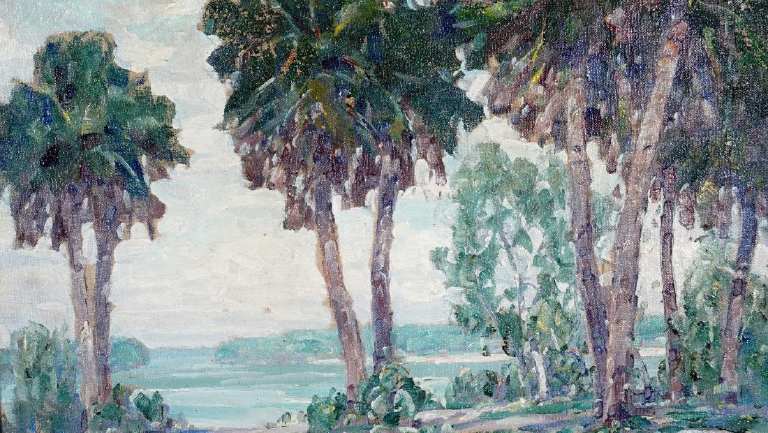 2 Frank Swift Chase Florida Landscape Paintings - 8