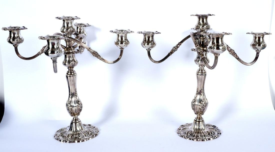 Pair Reed & Barton Francis I Sterling Candelabra - 2