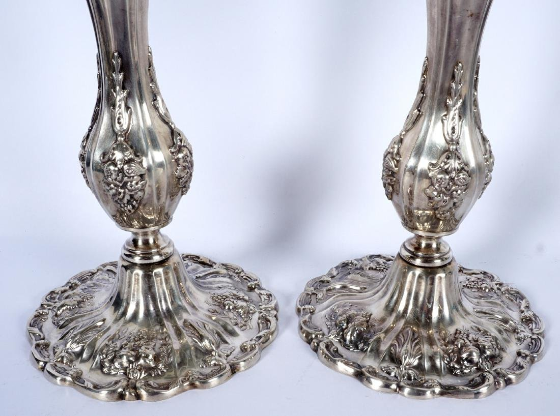 Pair Reed & Barton Francis I Sterling Candelabra - 5