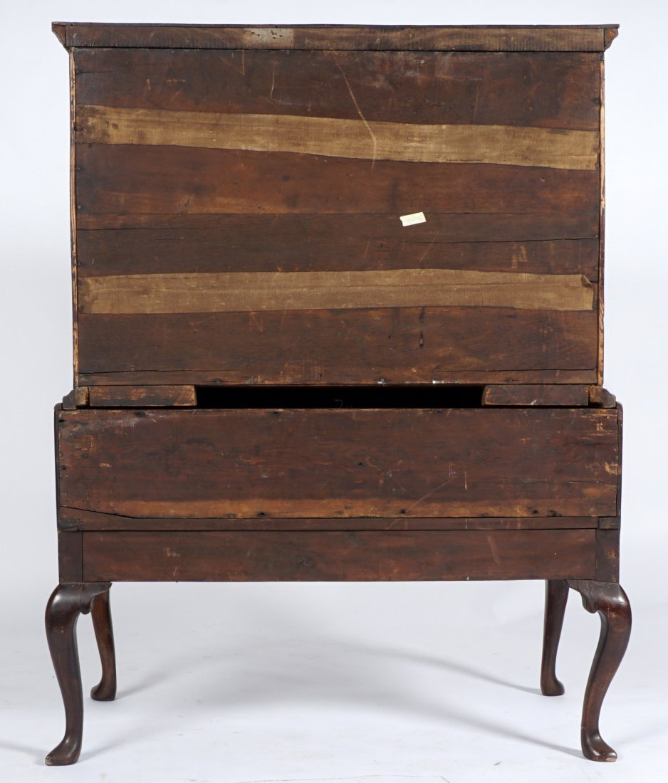 Mahogany Queen Anne Inlaid Chest on Stand - 7