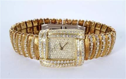 Henry Dunay 18k Gold & 852 Diamonds Watch