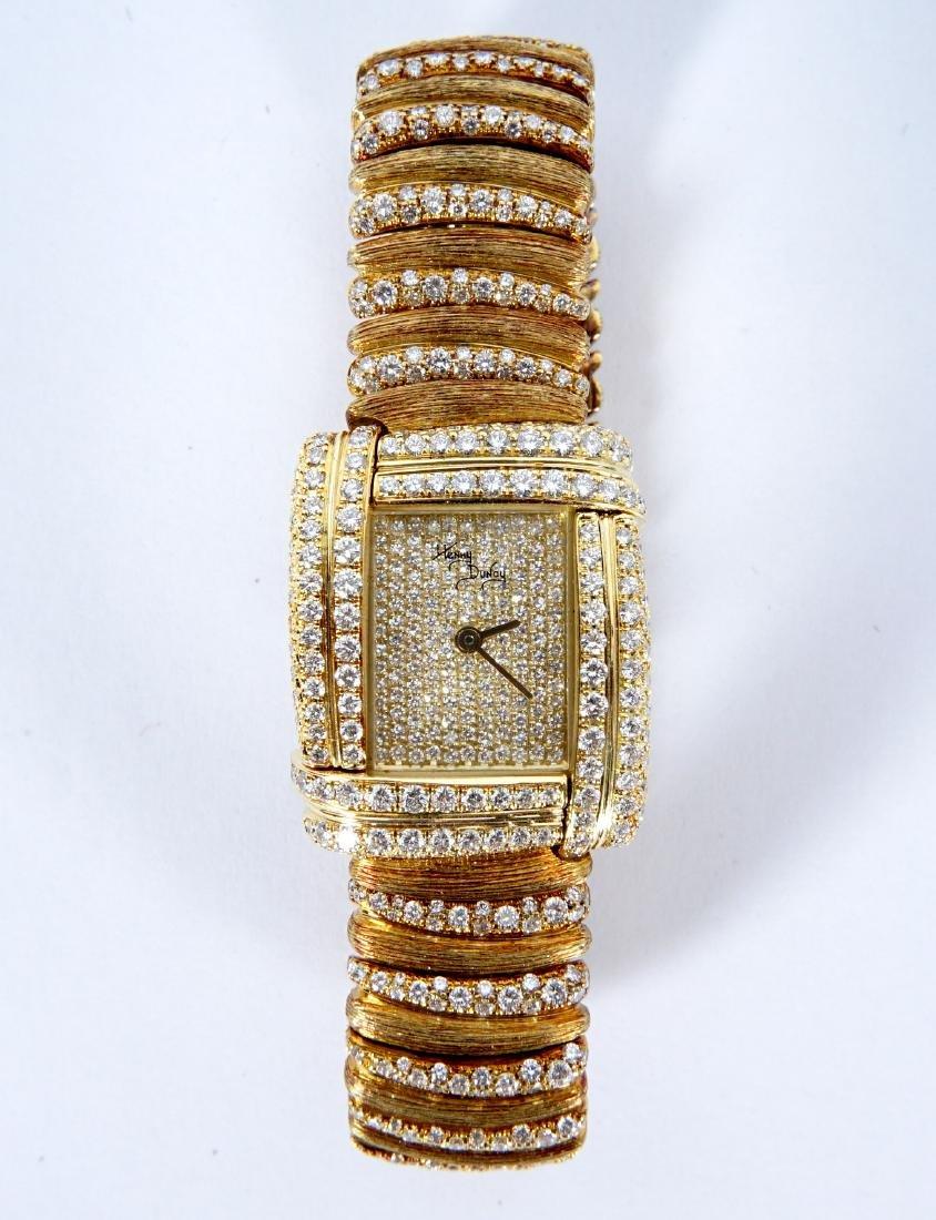 Henry Dunay 18k Gold & 852 Diamonds Watch - 2