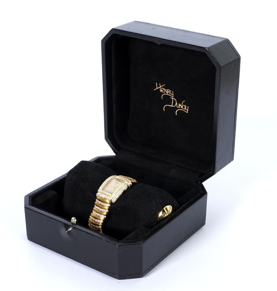Henry Dunay 18k Gold & 852 Diamonds Watch - 3