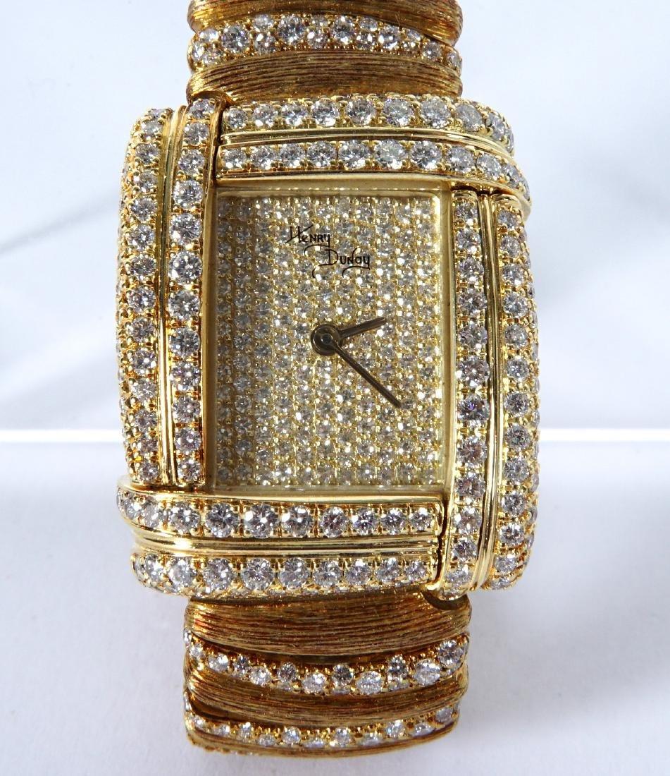 Henry Dunay 18k Gold & 852 Diamonds Watch - 4