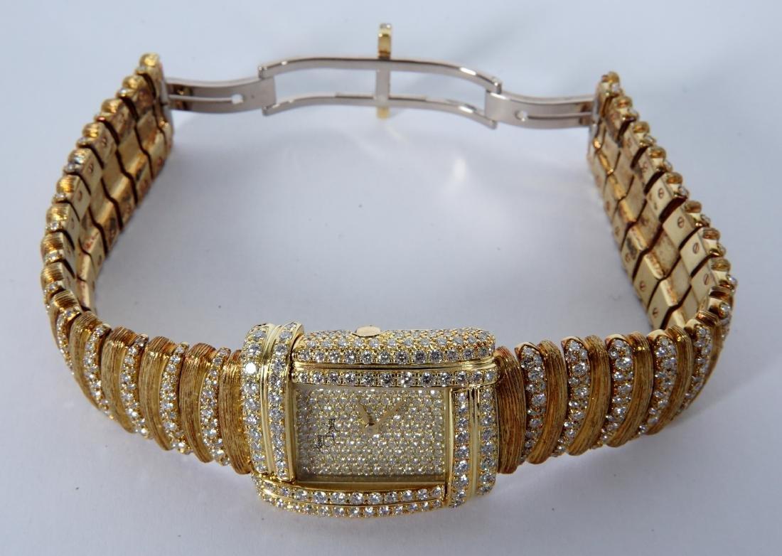 Henry Dunay 18k Gold & 852 Diamonds Watch - 5