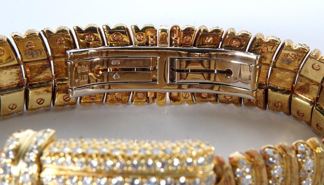 Henry Dunay 18k Gold & 852 Diamonds Watch - 8