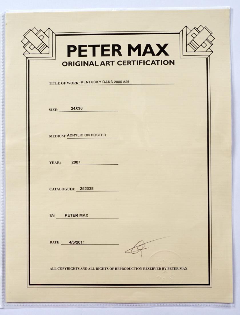 Peter Max Kentucky Oaks 2000 Mixed Media - 4