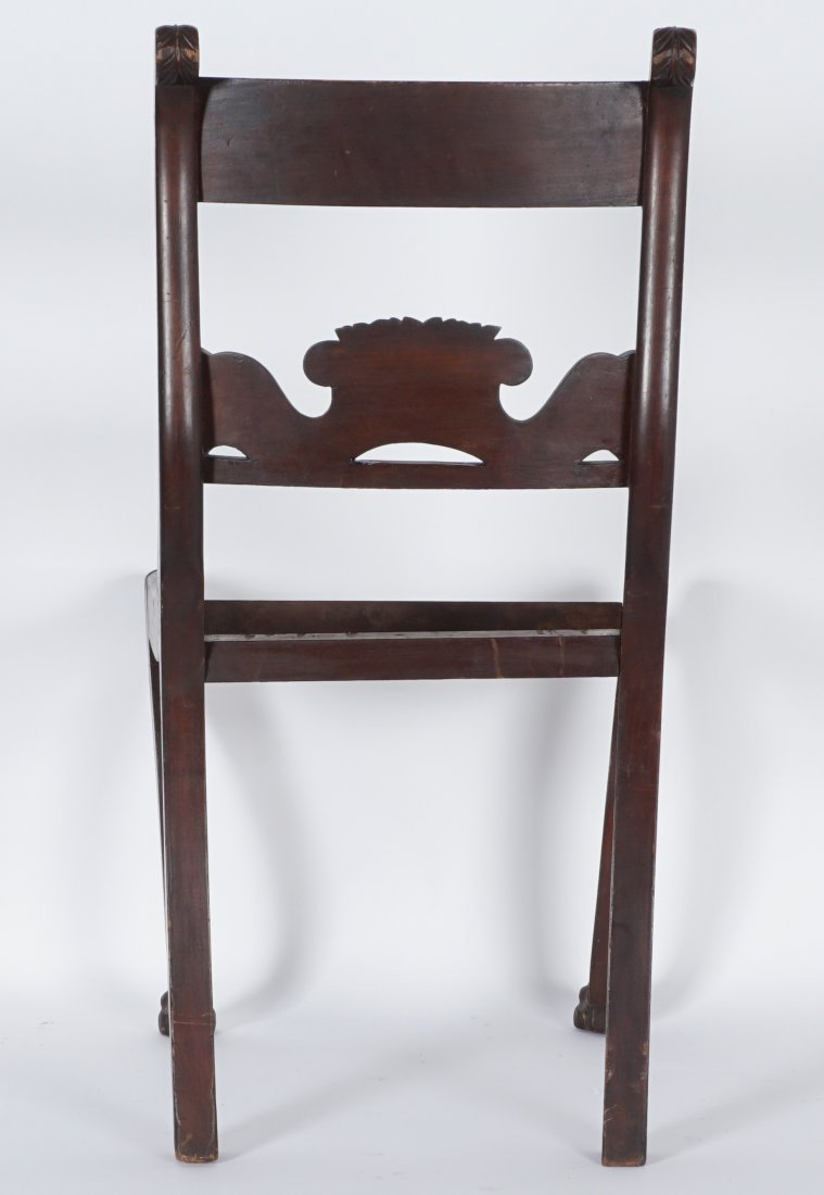 19th Century Duncan Phyfe Style Carved Side Chair - 2