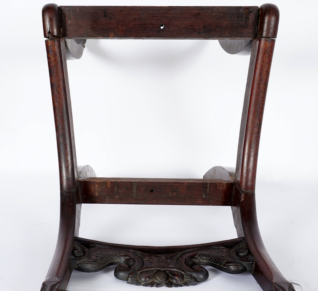 19th Century Duncan Phyfe Style Carved Side Chair - 4