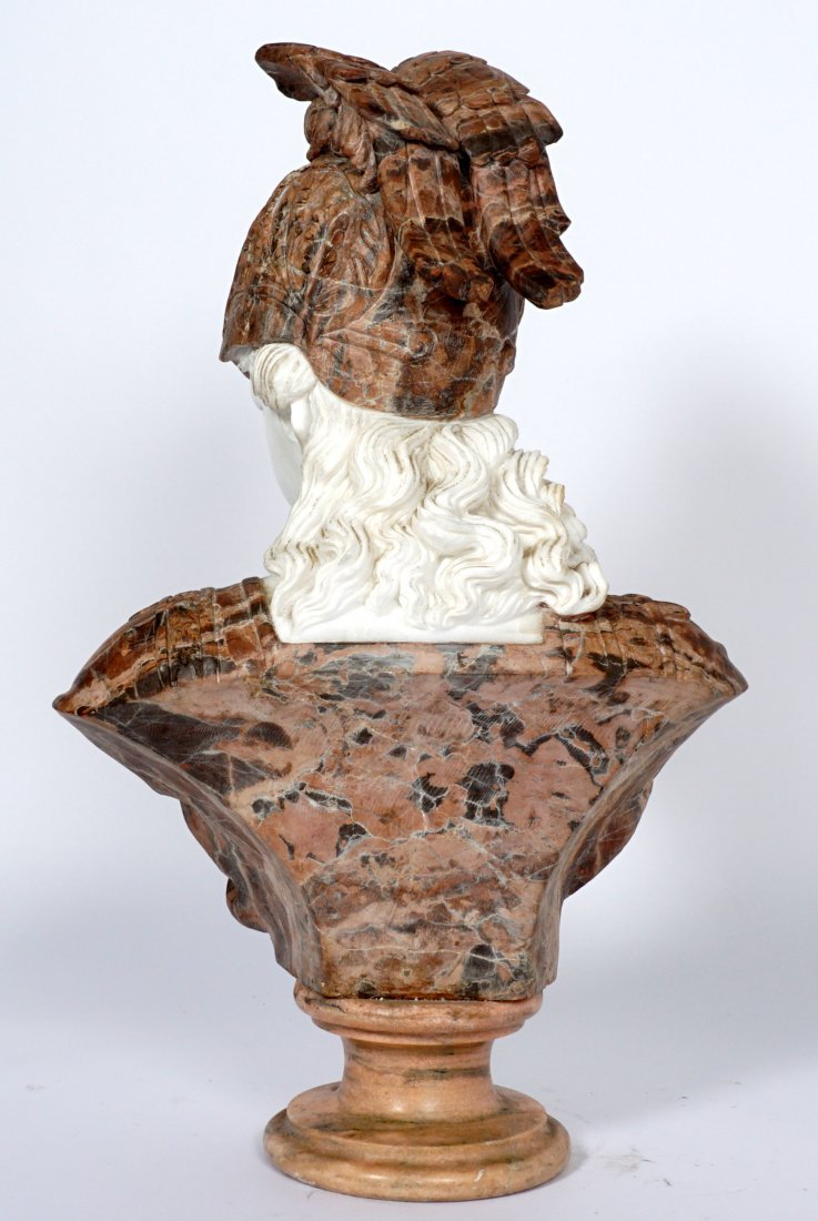 Marble Winged Helmet Bust of Athena or Roma - 4