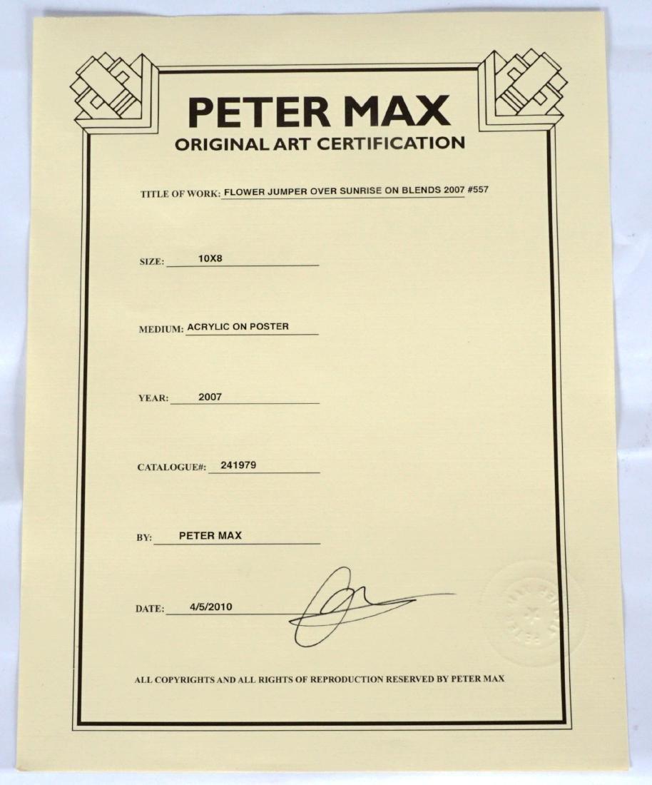 Peter Max Flower Jumper over Sunrise Mixed Media - 4