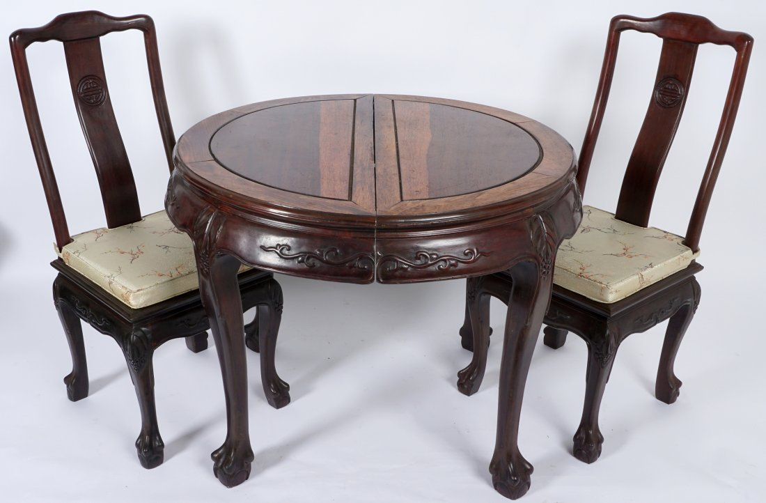 Chinese Table and 2 Chairs