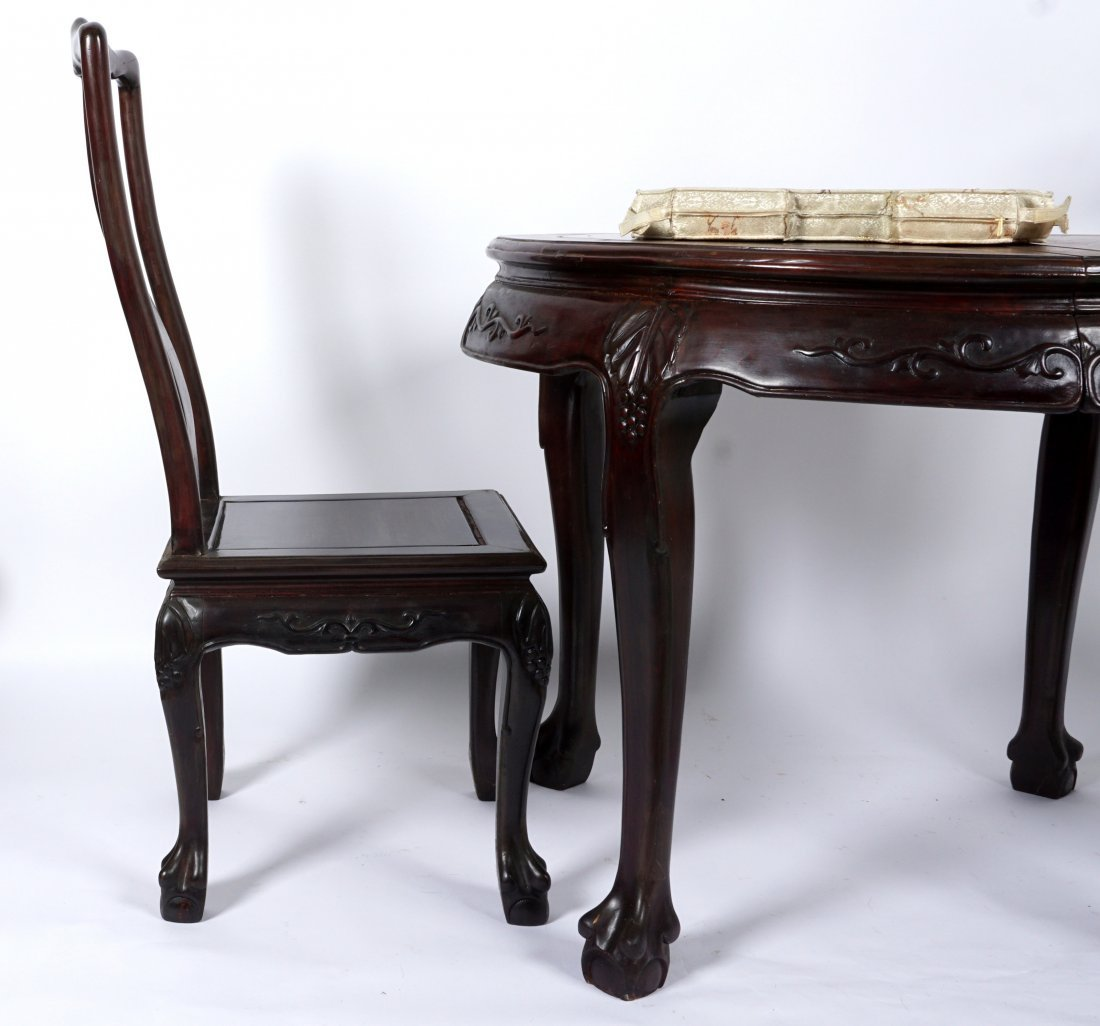 Chinese Table and 2 Chairs - 2