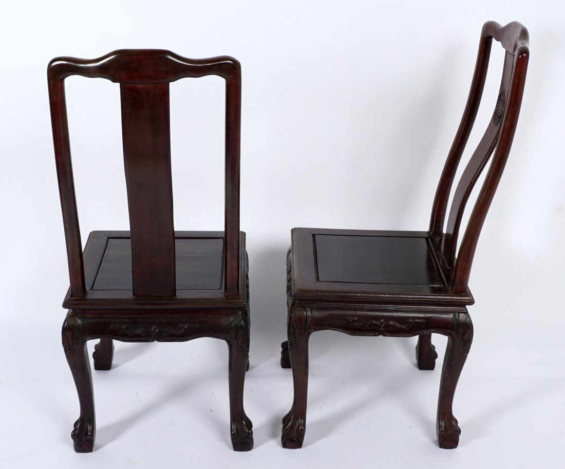 Chinese Table and 2 Chairs - 3