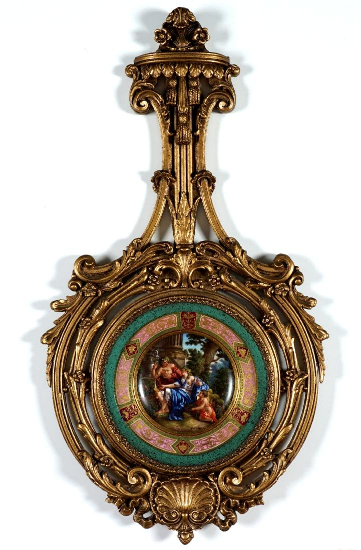 Royal Vienna Painted Plate in Gilt Frame