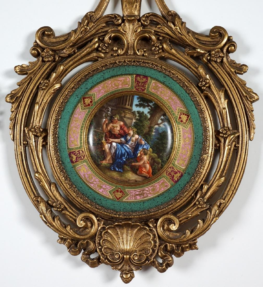 Royal Vienna Painted Plate in Gilt Frame - 2