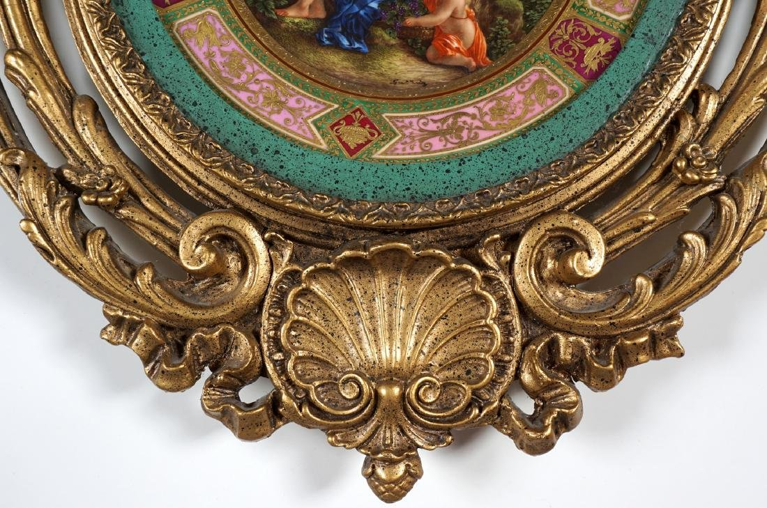 Royal Vienna Painted Plate in Gilt Frame - 5