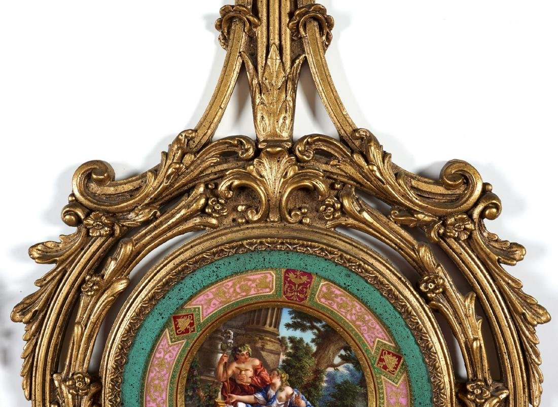 Royal Vienna Painted Plate in Gilt Frame - 7