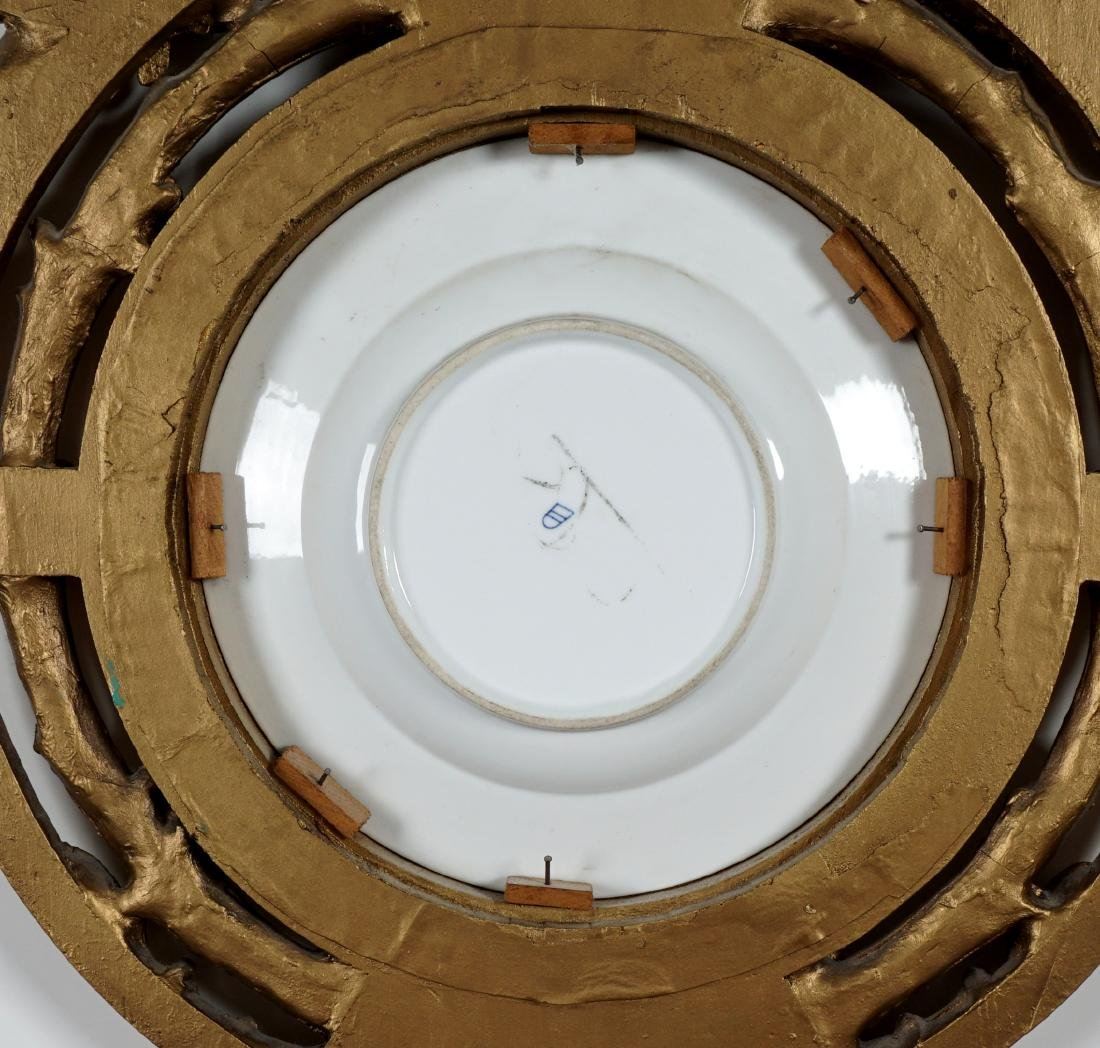 Royal Vienna Painted Plate in Gilt Frame - 8