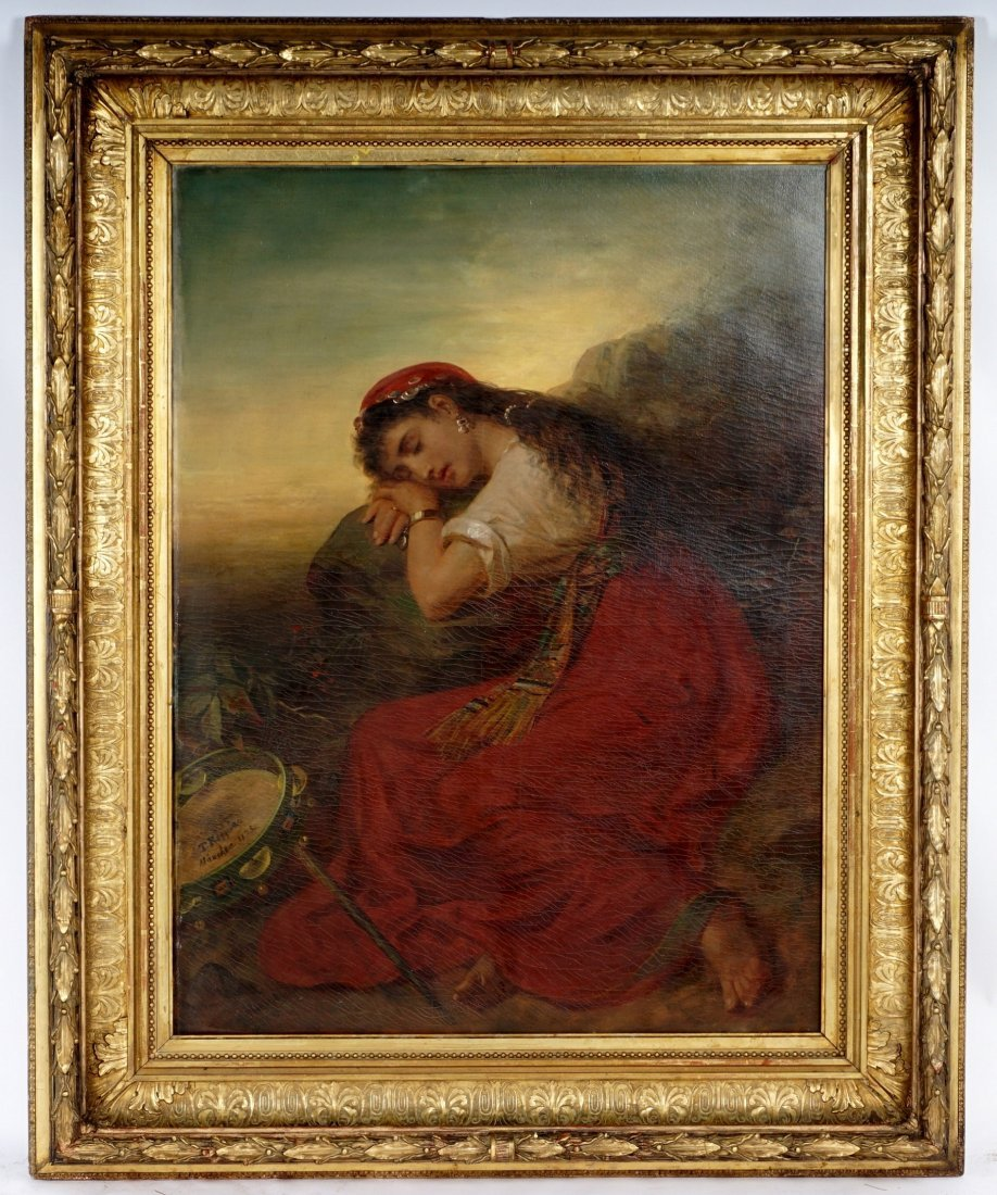 Large Theodor Koppen Sleeping Gypsy Painting - 2