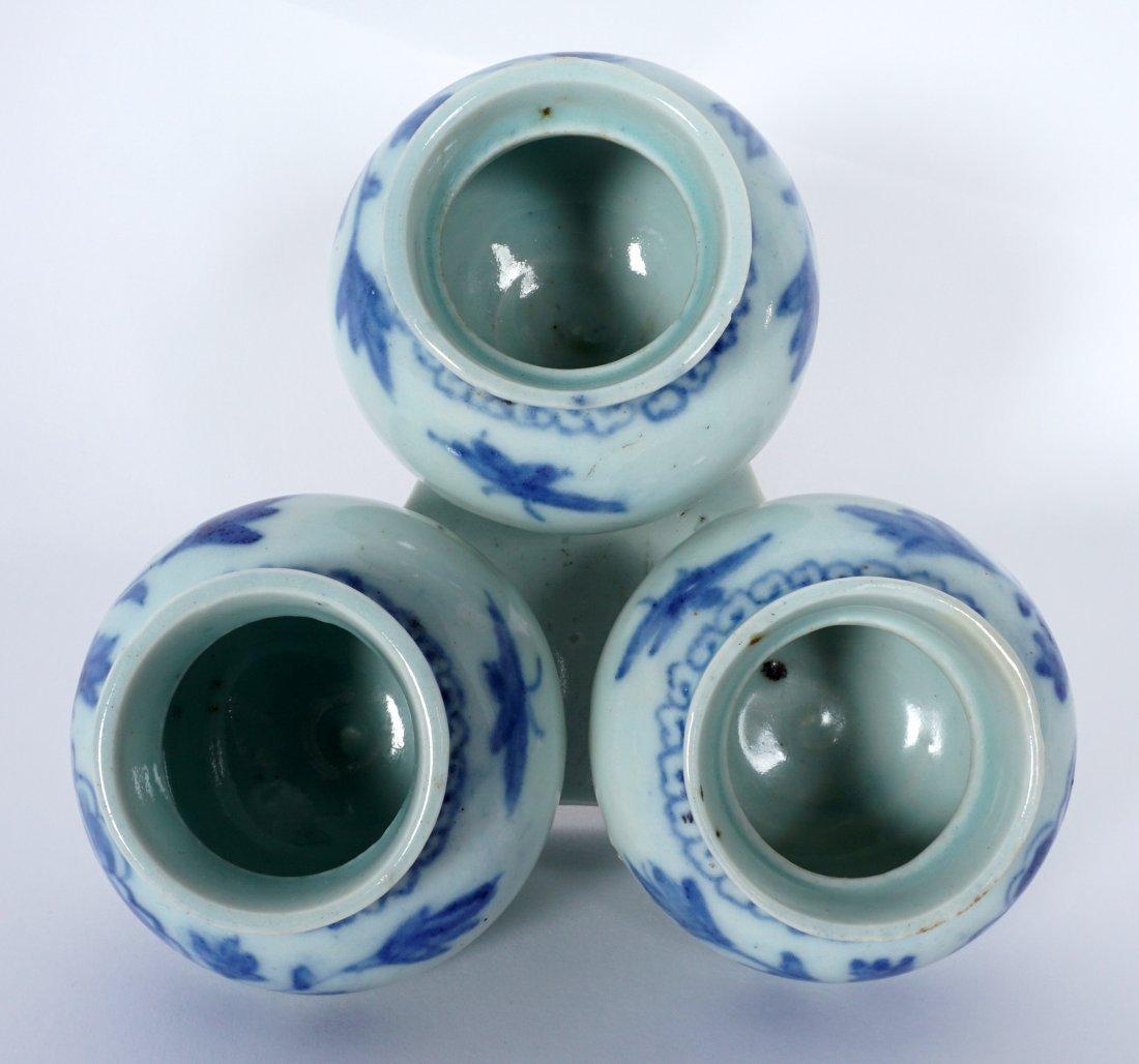 Unique Korean Porcelain Triple Jar Tray - 2
