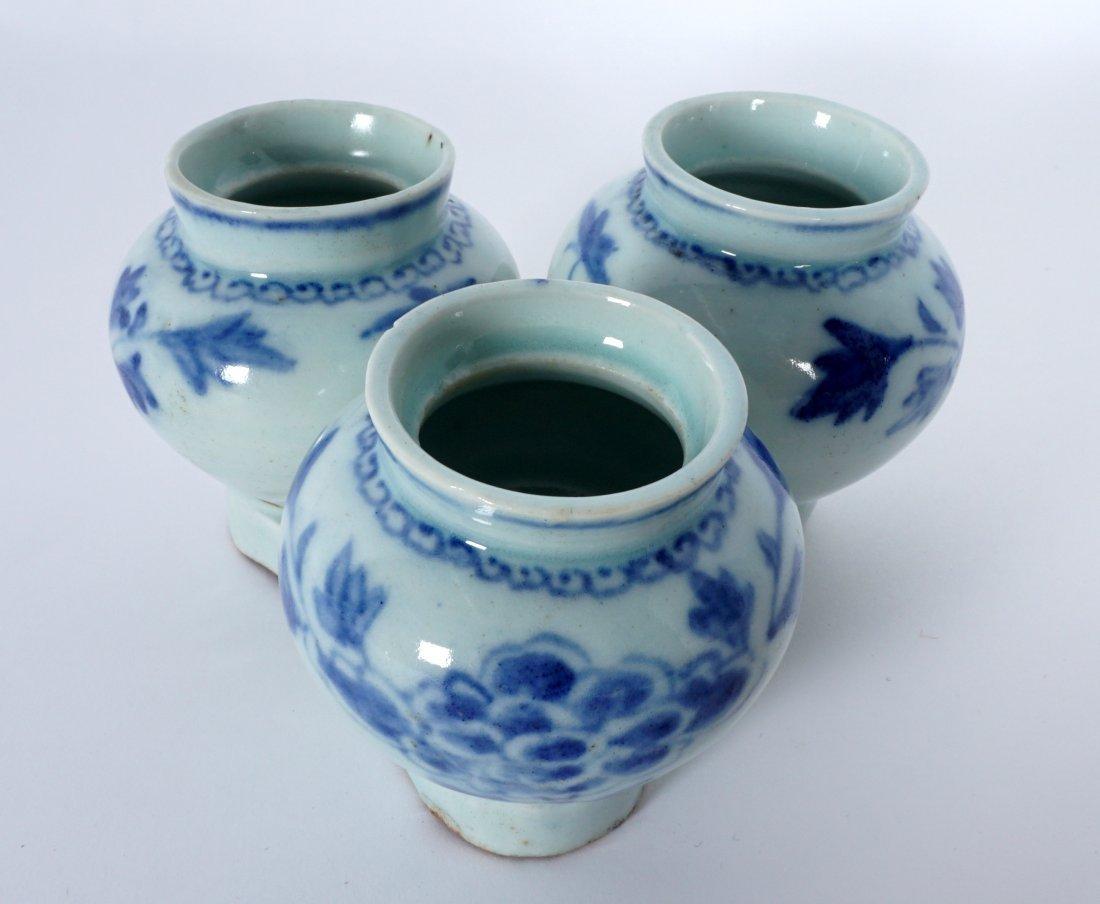 Unique Korean Porcelain Triple Jar Tray - 4