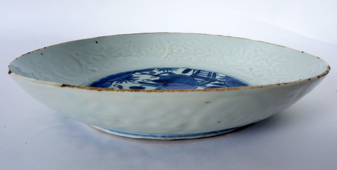 Ming Chinese Kraak Blue & White Low Bowl - 3