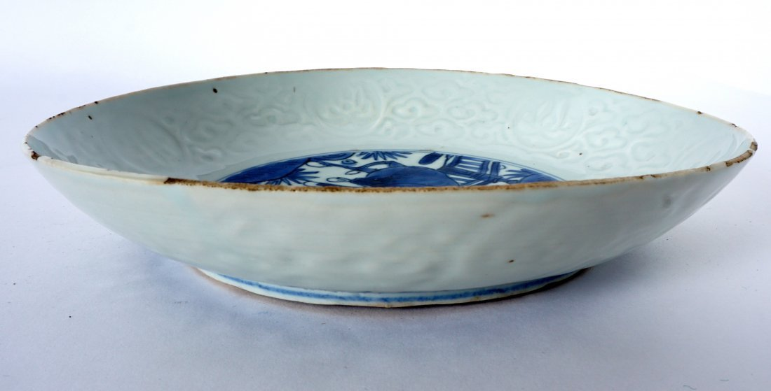 Ming Chinese Kraak Blue & White Low Bowl - 5