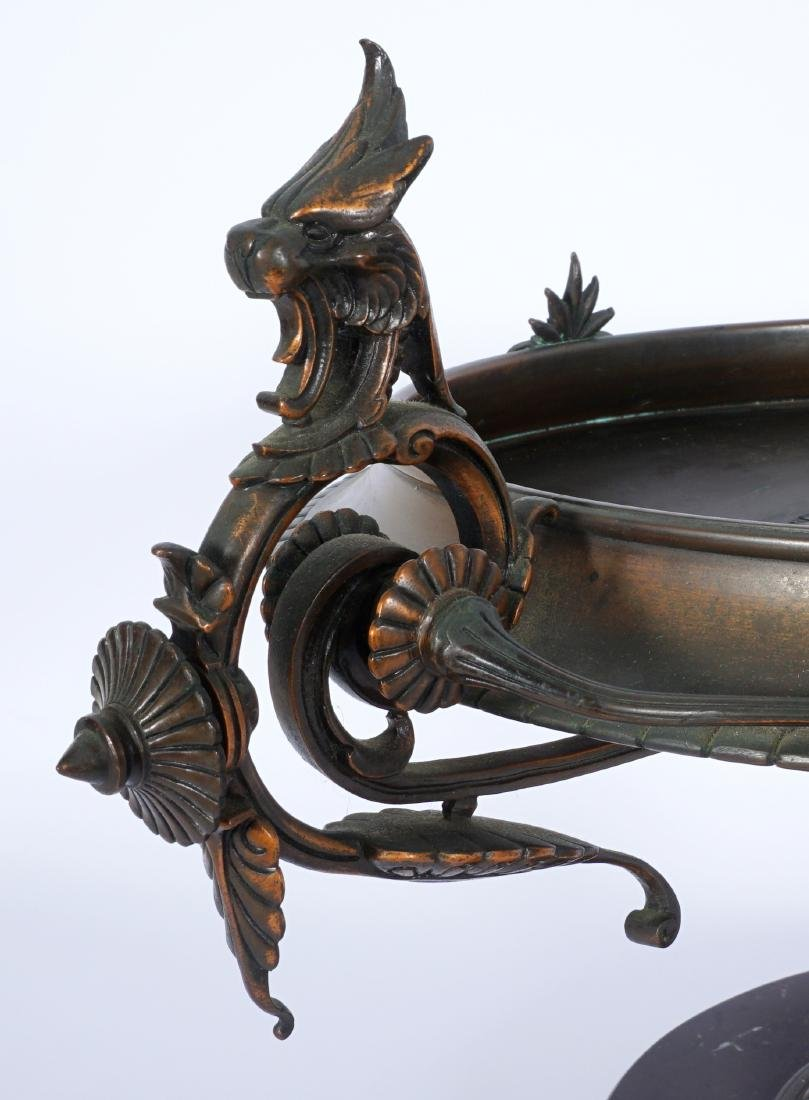 French Bronze & Marble Figural Tazza - 10