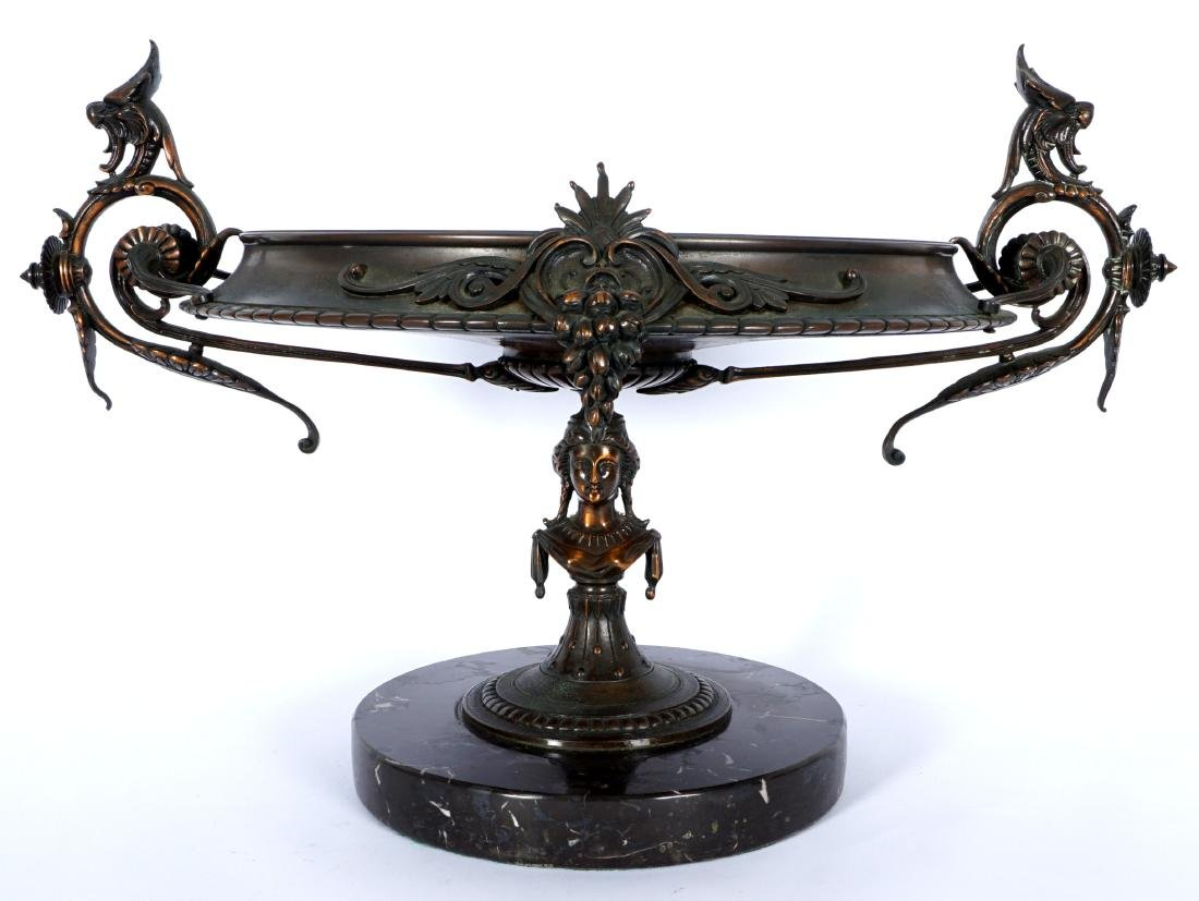 French Bronze & Marble Figural Tazza - 2