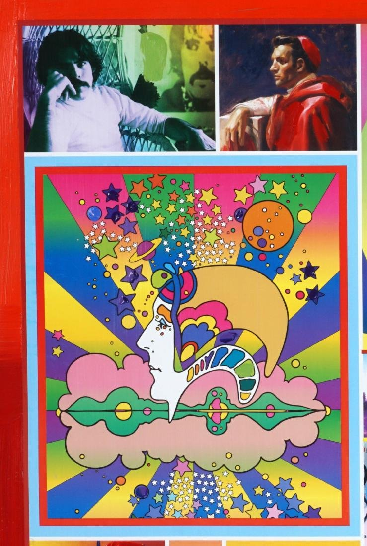 Peter Max El Paso Museum Collage Miixed Media - 3