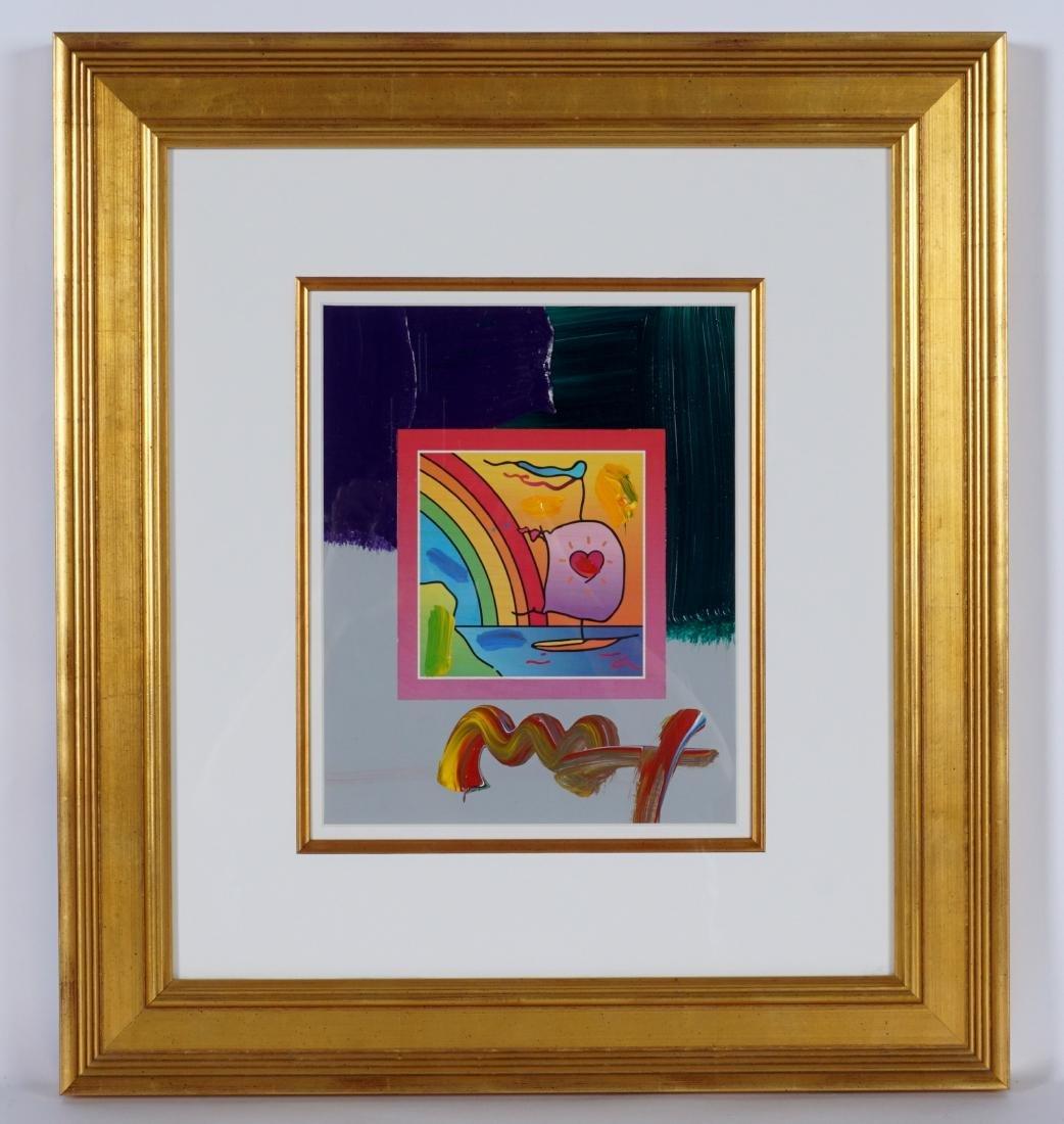 Peter Max Sailboat with Heart Mixed Media - 2