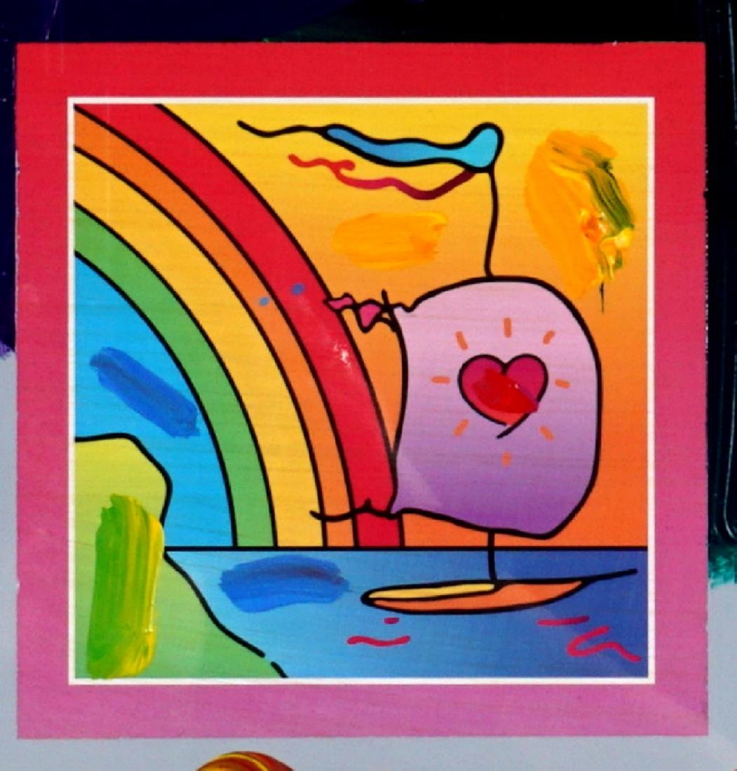 Peter Max Sailboat with Heart Mixed Media - 3